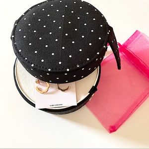 Kate Spade Polka Dot Travel Jewelry Organizer Box